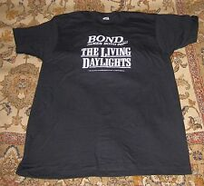 VINTAGE The Living Daylights James Bond Official T shirt RARE Collectible 007