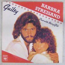 Barbra Streisand & Barry Gibb 45 Tours Guilty 1981