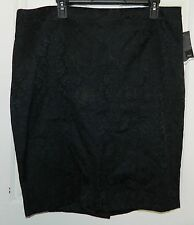 NWT MOSSIMO womens Black Scroll Embossed SEXY SKIRT* 18  New