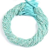 """13"""" Strand Natural Amazonite Faceted Rondelle Micro Cut Gemstone Beads 2 mm AAA"""