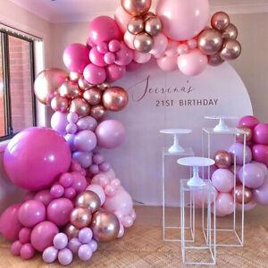 Rose Gold Purple Pink Balloon Arch Kit Garland Birthday Wedding Party Decoration