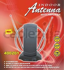 HDTV VHF UHF FM Indoor 36db Amplified Antenna 50 Miles Booster Gain Control