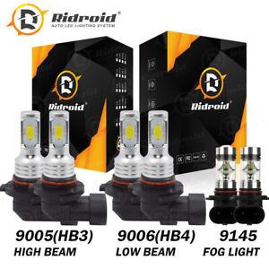 For Chevy Silverado 1500 2500 HD 2004-2006 Mini LED Headlight + Fog Light Bulbs