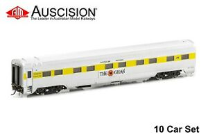 Auscision (APS-11) The Ghan® MK2 - 10 Car Set, 1990-1998 Era - HO Scale