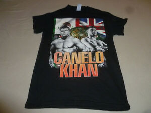 WORLD CHAMPION CANELO KHAN FIGHTERS BOXING T-SHIRT SIZE SMALL TEE BLACK