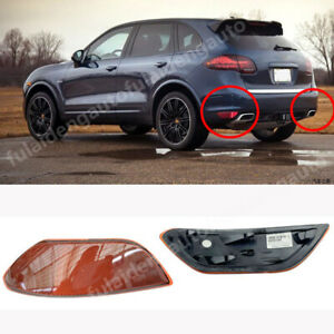 For Porsche Cayenne 2011-2014 Car Red Bumper Reflector LED Brake Tail Light 2P