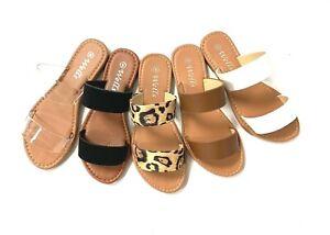 new women flat sandal 2 straps open toe comfort flip flops summer gladiator