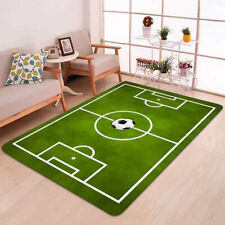 Rugs with Flair Kiddy Play Football Pitch Green Kids Rug 70cm x 100cm .