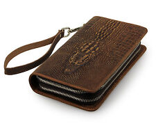 Florida Deal * Crocodile Alligator Pochette Portefeuille fait main cuir naturel