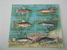 1976 Brazil Freshwater Fish m/m Mi.1562/67. B6C1
