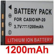 Batterie 1200mAh type NP-20 NP20 NP-20DBA Pour CASIO Exilim EX-S500GY