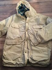 Woolrich Woman's Ladies Coat Rain Jacket Size Lined Wool Lined Hooded