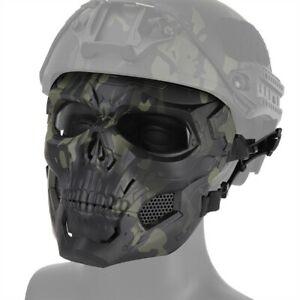 Tactical Helmet Mount / Head Wearing Full Face Skull Mask Halloween Cosplay