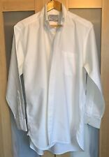 CHARLES TYRWHITT MENS CLASSIC WHITE OXFORD WEAVE L/S BUTTON-DOWN SHIRT 16/34