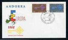Andorra FRZ. post nº 208-209 coman FDC Europa-CEPT udm 22,- + +!!! (131996)