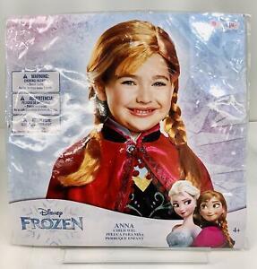 Disguise Frozen Princes Anna Child Halloween Costume/ Dress Wig ~Orange Braid