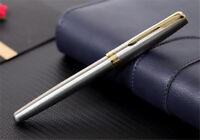 Perfect Parker Sonnet Series Steel Color Golden Clip 0.5mm Fine Nib Fountain Pen