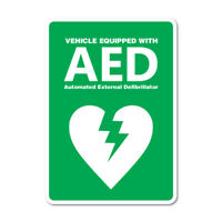 Vehicle Equipped with AED Sticker Decal Safety Sign Car Vinyl 7622HP