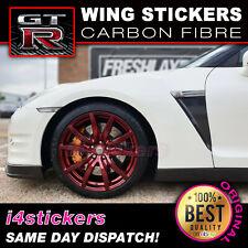 Nissan GTR Carbon Fibre Wing Stickers Decals JDM Drift
