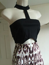Bnwt Abbey By Abbey Clancy Cut Out Animal Print Halter Neck Wiggle Dress Size 12