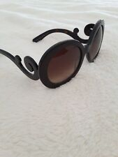 98444f152bd Original black Prada sunglasses women round