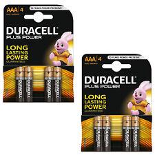 2X Paquete de 4 Duracell AAA MN2400 más potencia de larga duración Pilas Alcalinas LR03