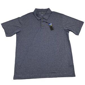 NWT Mens XXL Pebble Beach Performance Blue Polyester Short Sleeve Polo Shirt 2XL