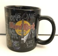 Hard Rock Cafe Pittsburgh Coffee Cup Mug Collectible Guitar Pattern Music Bar