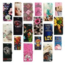 FOR APPLE IPHONE SE BOOK SECURE CARD SLOTS PHONE CASE COVER FLORAL FLOWER BUNNY
