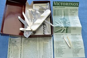 c.1970's VTG NEW IN BOX Victorinox HOFFRITZ MOP mother of pearl CHAMPION C knife
