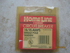 Homeline 15/15 Amp circuit breaker single pole tandem Homt1515C 120/240 Vac
