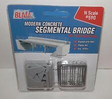 BLMA N Scale Modern Concrete Segmental Bridge (expand with #591) #590 NIP