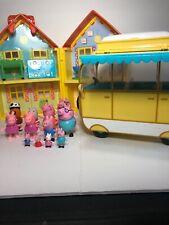 Peppa Pig House Camper Van 11 Figures And Furniture