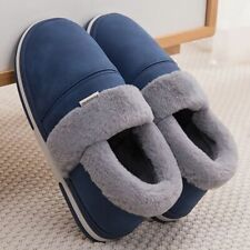 Woman Slippers Platform Velvet Waterproof PU Leather Warm Home Soft Comfy Shoes