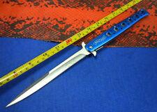 13'' BLUE Walther Aluminium Handle Big Pocket Folding Assisted Knife BA01
