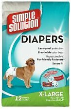 Simple Solution Disposable Diaper XXLarge (12Pk) - 738984