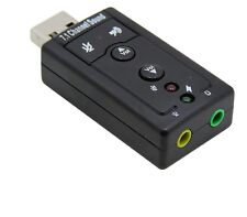 USB HID Audio Usb 7.1 3d Sound Adatatore Pc Notebook Card Adapter