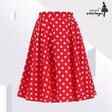"""24"""" Red White Polka Dot Full Circle Skirt 50s 60s Vintage Swing"""