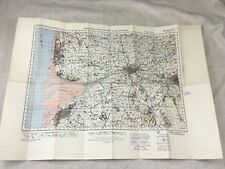 More details for 1940 ww2 map of preston southport blackpool chorley military war office original