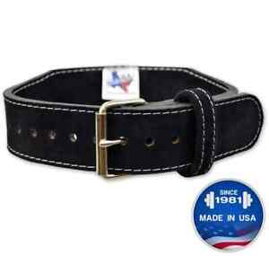 Titan Longhorn Tapered Powerlifting Single Prong Belt 10mm - Competition Legal