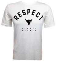 Project Rock Under Armour Men's Tee Bull White T-Shirt UA Respect 1347698 100