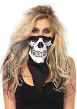 Skull Bandana Handkerchief Skeleton Face Mask Cowboy Scarf 1pk Leg Avenue