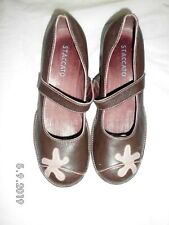 Staccato From Pavers Brown real leather wedge shoes Size UK 6 EU 39