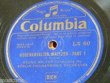 """78rpm 12"""" BRUNO WALTER - BERLIN PHIL rosenkavalier waltzes LX 60"""