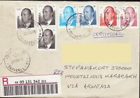 SPAIN ESPANA REGISTERED COVER TO NAGORNO KARABAKH ARMENIA R906