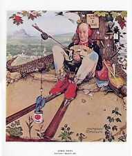 Norman Rockwell Print April Fool