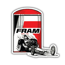 DRAGSTER FRAM STICKER hotrod split bug 80mm high