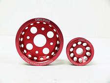 OBX Red Overdrive Pulley fits Infiniti 2003-07 G35 & Nissan 350Z 3.5L V6 VQ35DE
