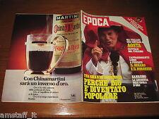 RIVISTA EPOCA 1980 N.1532=PAPA WOYTILA=URSULA ANDRESS=WILLIAM BURROUGHS=