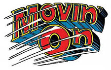 """""""Movin' On""""   Hot Rod Muscle Car  Vintage-Looking  1950's  Travel Decal/Sticker"""